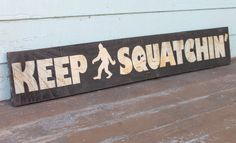 Bigfoot Sasquatch Wood Sign Funny Humor Art Rustic Wooden Reclaimed Pallet Wall Hanging Decor