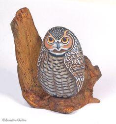 Gufo, owl | Set di gufo in sasso e radice naturale | Ernestina Gallina | Flickr