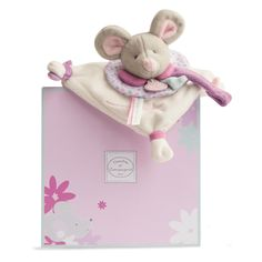 Pearly Mouse Dummy Holder A beautifully soft cuddly mouse face on a mini blanket with the excellent addition of a dummy holder. A perfect way to ensure little ones are unable to drop their soother without anyone noticing!  This gorgeously soft mouse dummy holder, comes in its own delightful box, making it a perfect gift for new borns or little ones.