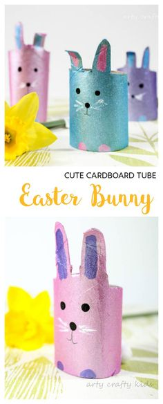 Arty Crafty Kids   Craft   Easter   Easy Cardboard Tube Easter Bunny Craft