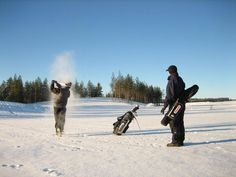 Winter Golf in Finland