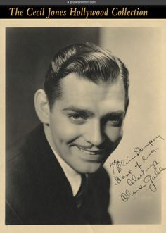 "Clark Gable - Signed photograph to heavyweight boxing champ Jack Dempsey's sister Elsie. (ca. 1930s) Vintage original gelatin silver double-weight matte 8 x 10 in. photograph signed to Dempsey's sister, ""To Elsie Dempsey, Best of luck always, Clark Gable""."