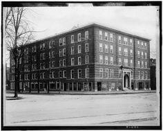 Photo: Priscilla Inn,hotels,buildings,streets,roads,Publishing,Detroit,Michigan,MI,1900
