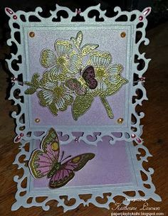 Paper Play by Kathi: Butterflies and Dogwood Easel Card