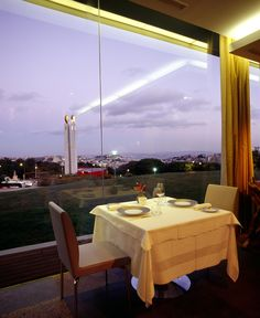 A restaurant with a view - Eleven Restaurant by Thema Hotels, Lisbon, Portugal Lisbon Restaurant, Lisbon Hotel, Modern Restaurant, The Beautiful Country, Beautiful Places In The World, Oh The Places You'll Go, Places To Eat, Amazing Places, Lisbon Portugal