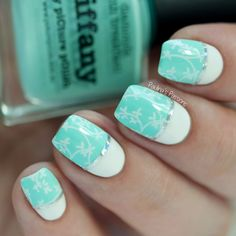 Delicate stamping nail art | Paulina's Passions