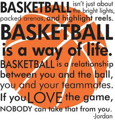 Basketball Michael Jordan quote with basketball subway art words vinyl  wall decal via Etsy
