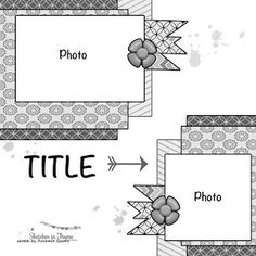 Scrapbook Layouts – Page 3 – Sit, Scrap, and Relax! Scrapbook Layout Sketches, 12x12 Scrapbook, Scrapbook Templates, Card Sketches, Scrapbook Albums, Scrapbooking Layouts, Scrapbook Designs, Map Sketch, Picture Layouts