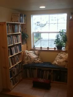 Turning An Awkward Space Into A Reading Nook