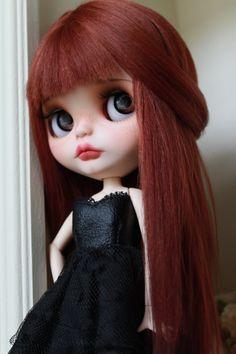 Adeline Custom Blythe Doll OOAK Art Doll by NDsDazzlingDollys  #redhead #redheads