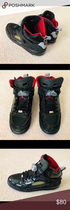 brand new 05982 a7cc6 Air Jordan Spizike Black and Red Comfortable Air Jordans in awesome  condition. Black patent leather
