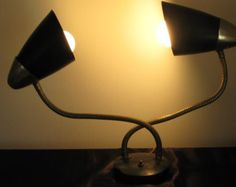 Vintage Mid Century atomic bullet table lamp.