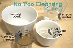 How to go No 'Poo with Bentonite Clay (recipe & video tutorial). Also includes tips for application, going no 'poo, and the detox period. by My Darla Clementine