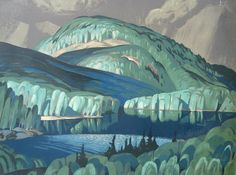 Silkscreen by Alfred Joseph Casson (Canadian, Poplar. Silkscreen, 30 x 40 in. (Group of Seven) Group Of Seven Artists, Group Of Seven Paintings, Canadian Painters, Canadian Artists, Landscape Art, Landscape Paintings, Landscapes, Illustration Photo, Emily Carr