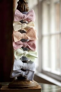 Love these bow ties for a summer wedding!
