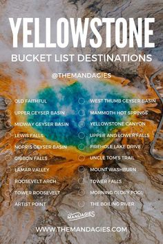bucket list photography Trying to find a complete list of amazing places to see in Yellowstone National Park This guide covers all the best things to do in Yellowstone including a Yellowstone bucket list and Yellowstone itinerary. Read it all here! Yellowstone Nationalpark, Visit Yellowstone, Yellowstone Vacation, Yellowstone Park, Places To Travel, Places To See, Travel Destinations, Travel Things, Lamar Valley