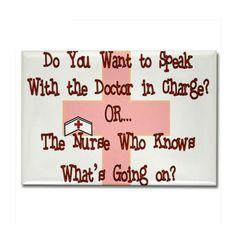 talk to the nurse...  talk to the nurse!!!