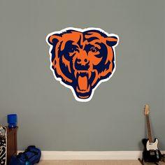Chicago Bears Logo REAL.BIG. Fathead – Peel & Stick Wall Graphic | Chicago Bears Wall Decal | Sports Home Decor | Football Bedroom/Man Cave/Nursery