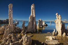 tufa towers in mono Lake