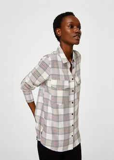 Discover the latest trends in Mango fashion, footwear and accessories. Shop the best outfits for this season at our online store. Trends, Check Shirt, Mango, Men Casual, Long Sleeve, Fabric, Mens Tops, Fashion, Plaid Shirts