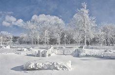 The frozen mist from Niagara Falls coats the landscape around Prospect Point at Niagara Falls State Park. | James Neiss / Niagara Gazette via AP