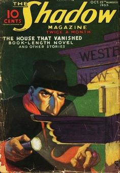 Gibson's novels about The Shadow almost always had intriguing titles, such as this entry from 1935.