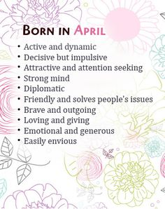 Born in April - Active and dynamic. What Your Birth Month Says About You, Birthday card for April born. Birthday Quotes For Me April, Its My Birthday Month, Best Birthday Quotes, Women Birthday, Daughter Birthday, Birthday Diy, Friend Birthday, Happy Birthday, April Born Quotes