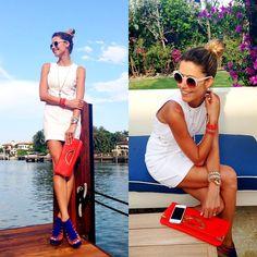 Armani Exchange  Dress, Giseli Dias Shoes, Zero Uv Sunglasses, Jewel Be Mine Bracelets