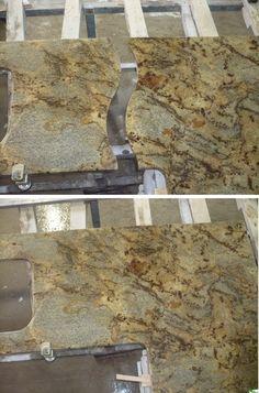 Granite Countertop For Chatham Ontario  Golden Beach Granite Countertop    Raw Shop Photo   Dimanti Stone Works