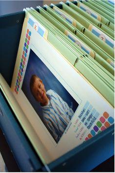 Organizing the School Paperwork via I Heart Organizing