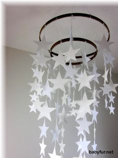 Star Mobile, Galaxy Mobile, Star Nursery Bedding, Neutral Nursery Decor, Baby Shower Gift,  Moon and Stars Mobile, Cloud Mobile - http://babyfur.net/star-mobile-galaxy-mobile-star-nursery-bedding-neutral-nursery-decor-baby-shower-gift-moon-and-stars-mobile-cloud-mobile.html
