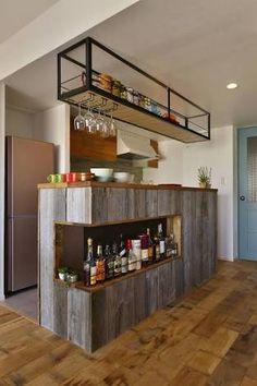 「バーカウンター キッチン」の画像検索結果