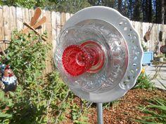 Cheery Red & White Garden Flower Sun Catcher by CheekyBirdy by CheekyBirdy $50.00