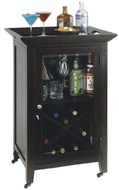 Tuscany brown modern dry bar and wine cabinet new digs - Contemporary cabinet knobs wine locker ...