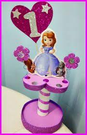 Resultado de imagem para centro de mesa de princesa sofia