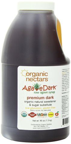 Are you sick of white sugar? Want a healthier option to use for cooking and as a sweetener? Read about the Organic Nectars raw dark Mexican agave syrup!
