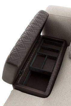 Oak Furniture Land, Couch Furniture, Luxury Sofa, Luxury Living, Lounge, Storage Compartments, Chair Design, Duke, Fendi