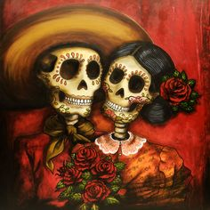 Juan and frieda ltd ed print evans art, halloween face makeup, mexican craf Mexican Skulls, Mexican Folk Art, Mexican Artwork, Mexican Paintings, Day Of The Dead Artwork, Skeleton Art, Skeleton Makeup, Skull Makeup, Face Makeup