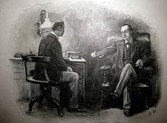 Sherlock Holmes and John Watson - Paget Illustration