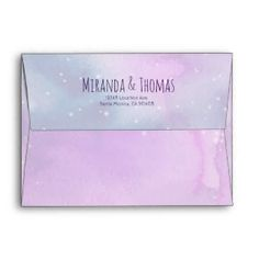 Coordinating envelopes, inserts, thank you cards. For all types of weddings. Wedding Envelopes, Custom Envelopes, Wedding Stationary, Wedding Invitations, Purple Wedding, Thank You Cards, Rsvp, Party Supplies, Whimsical