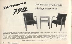 For those looking at the price Armchair group for IKEA 1951 Catalog, Armchair, Ikea, Furniture Design, Mid Century, Group, Vintage, Home Decor, Sofa Chair
