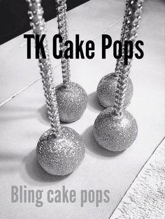 Bling Cake Pops Perfect for New Years!  https://www.etsy.com/listing/245872658/wedding-cake-pops-bling-pops-with-bling
