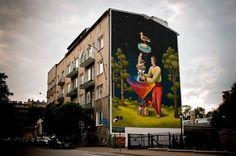 New Interesni Kazki Mural in Lublin, Poland – view more (detailed) images @ http://www.juxtapoz.com/Street-Art/new-interesni-kazki-mural-in-lublin-poland# – #streetart #intereskikazki #poland