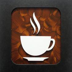 Coffee Art - Coffee As the Art and As the Medium of Art - Useful Articles Rustic Coffee Shop, Coffee Shop Design, Kiosk Design, Cafe Design, Diy Kitchen Decor, Kitchen Art, Coffee Artwork, Mediums Of Art, Coffee Logo