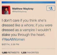 Feminist Elizabethan: Feminist Meme: If You Were Dressed As A Vampire