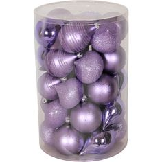 Holiday Time 35-Piece Shatterproof Christmas Ornament Set, Lilac $15