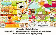 Freebie, Collab, Férias, Holiday, Armazém Criativo, elementos, alpha, wordarts