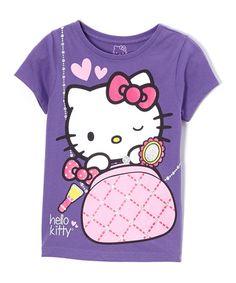 Loving this Purple Hello Kitty Tee - Girls on #zulily! #zulilyfinds