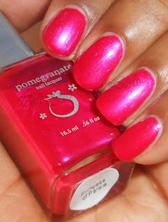 Tall Girl In Heels with Pretty Painted Nails: Pomegranate Nail Lacquer