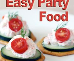 Having a get together this weekend?  Don't let complicated recipes keep you tied up in the kitchen all day and away from your guests - get out and have some fun with these easy party food ideas.  These recipes are great to make ahead of time, and don't take a lot of effort or expense.  So try a few of these tasty snacks and party on!
